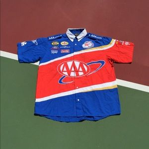 Pit Crew Racing Button Up